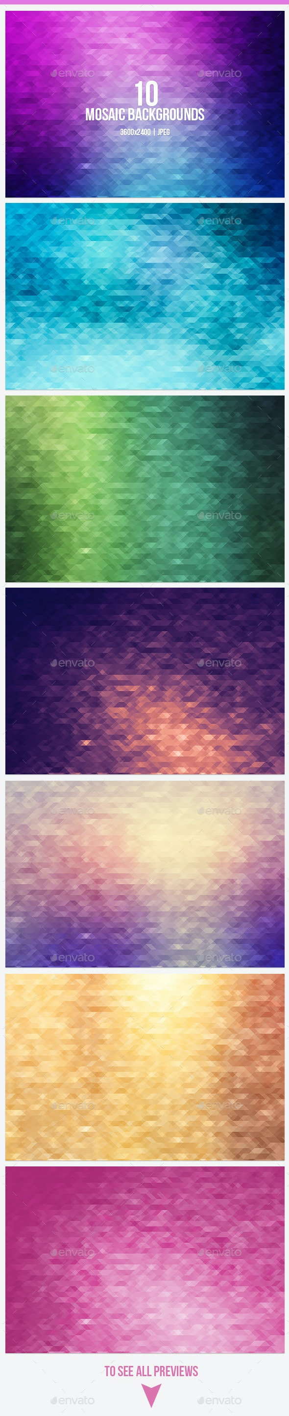 Mosaic Backgrounds - Patterns Backgrounds