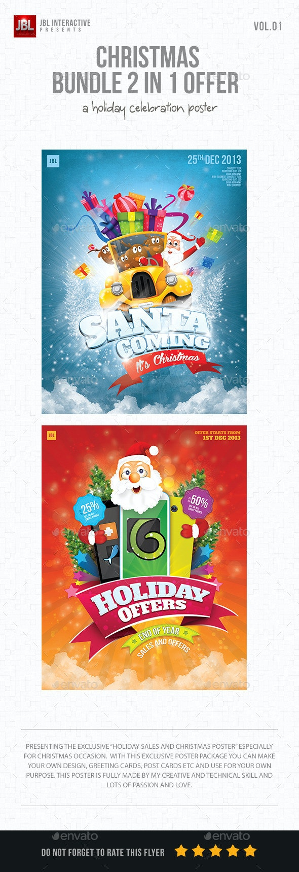 Christmas Poster Bundle Package Volume 01 - Events Flyers