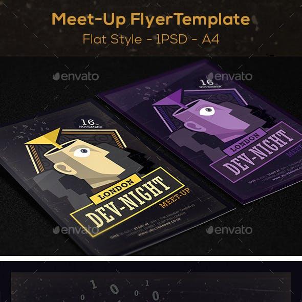 Flat Meet-Up Flyer / Poster Template A4
