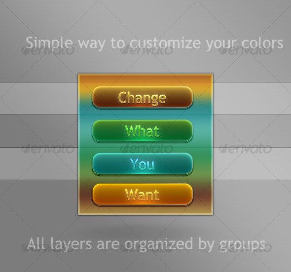 Web Clean Button Style - Buttons Web Elements