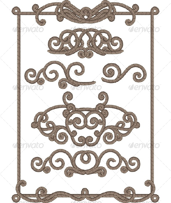 Cord Frame - Backgrounds Decorative