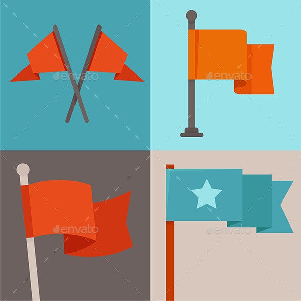 Flag Design Elements - Decorative Vectors