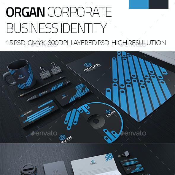 Organ Corporate Business Stationary Identity