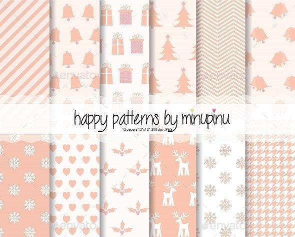 Christmas digital paper - Patterns Decorative