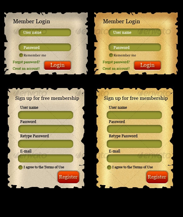Login and Signup form - Forms Web Elements