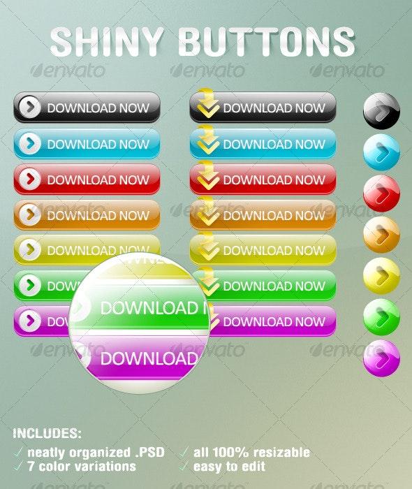 Shiny Web 2.0 Buttons - Buttons Web Elements