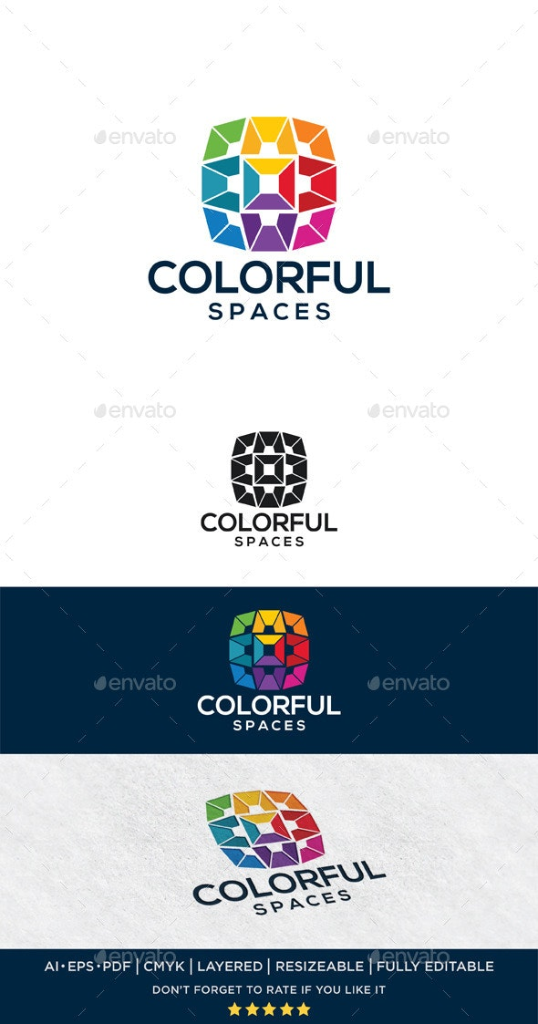 Colorful Spaces - Abstract Logo Templates