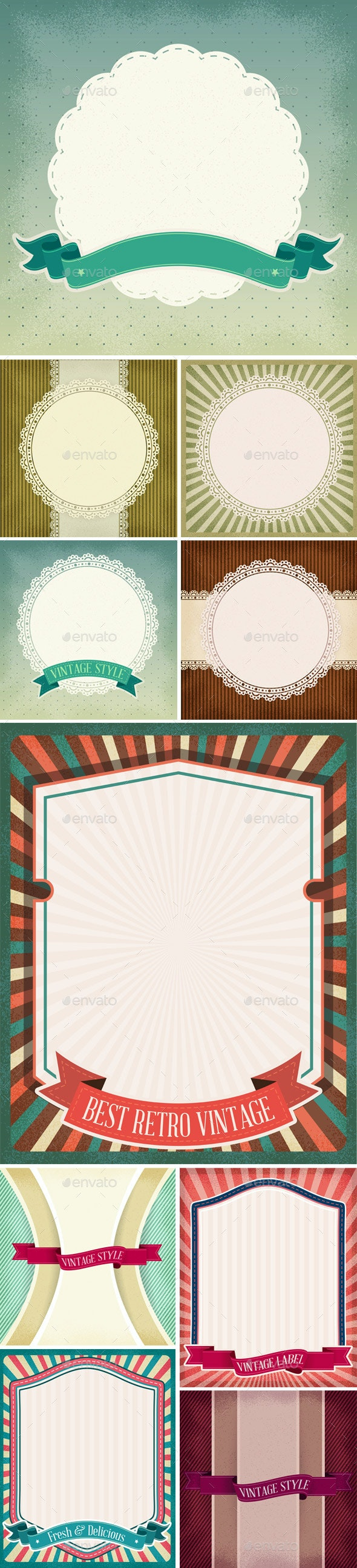 10 Retro Vintage Backgrounds - Backgrounds Decorative