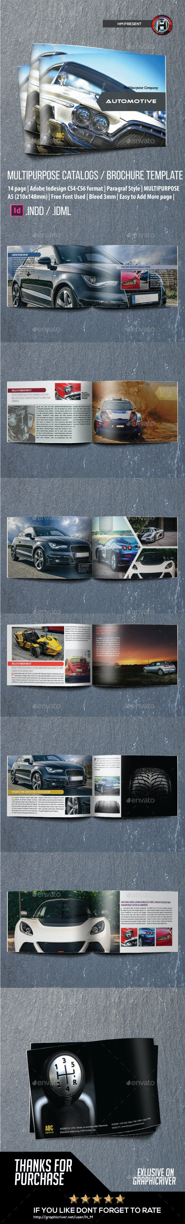 Automotive Catalog Brochure Indesign Template - Catalogs Brochures