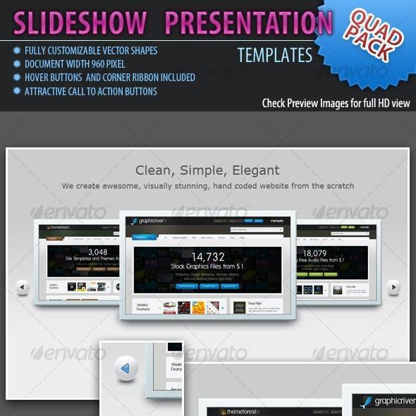 Slideshow Templates Quad Pack