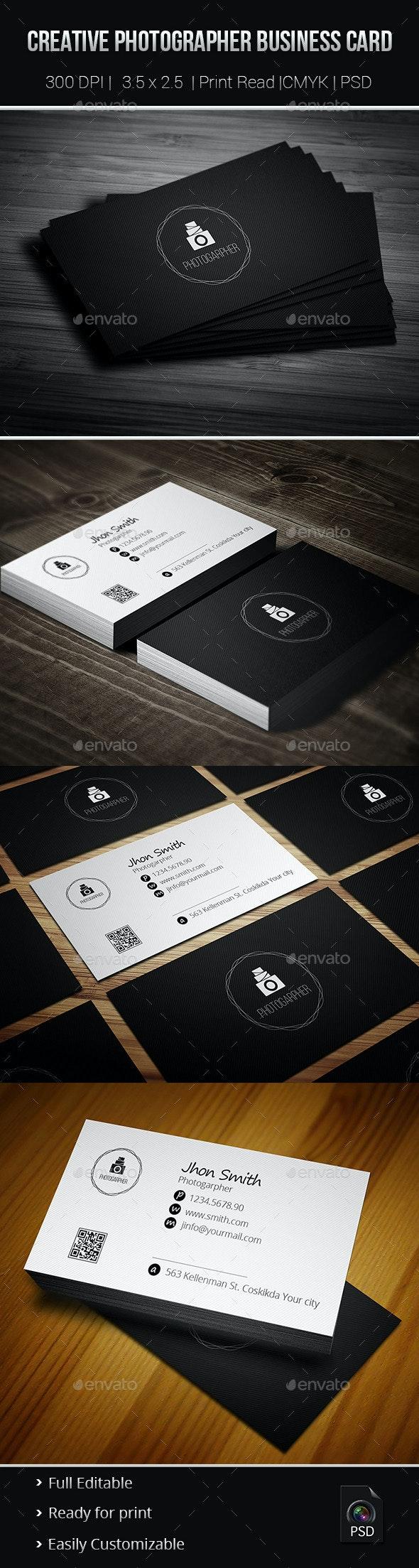 Creative Photgrapher Business Card 02 - Creative Business Cards