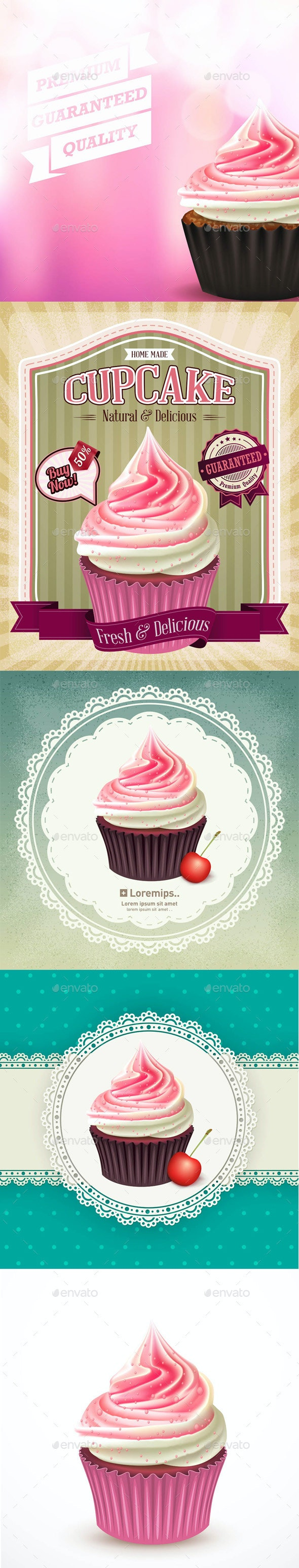 Cupcake Templates - Food Objects