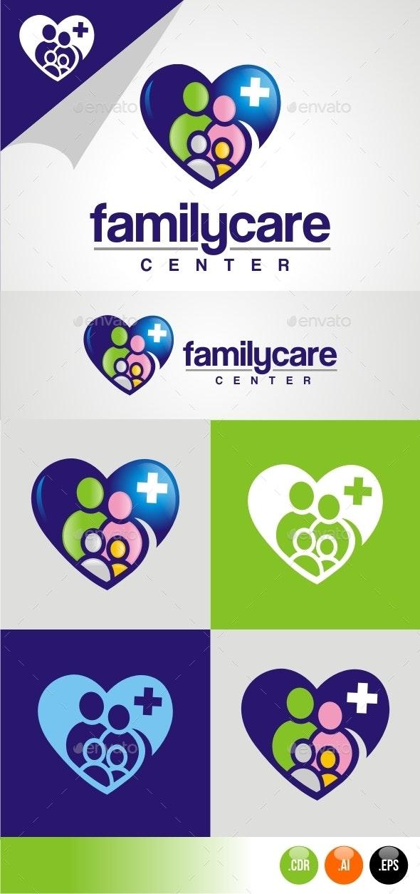 Family Care Center - Humans Logo Templates