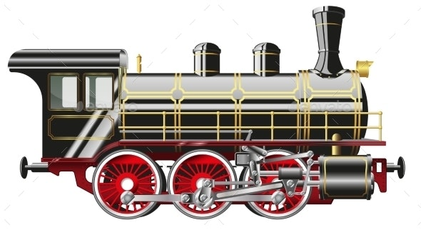 Steam Locomotive - Man-made Objects Objects