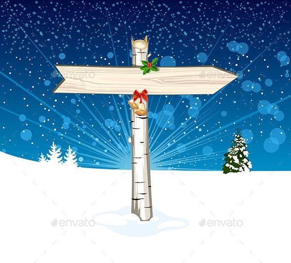 Christmas Wooden Arrow Sign - Christmas Seasons/Holidays