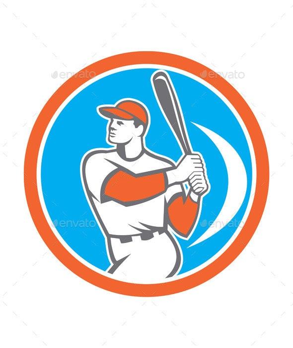 Baseball Batter Circle  - Sports/Activity Conceptual