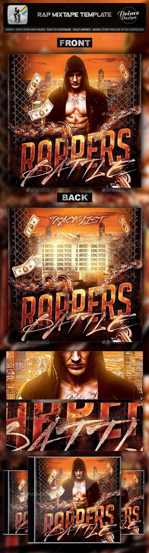Rap Mixtape Template - CD & DVD Artwork Print Templates