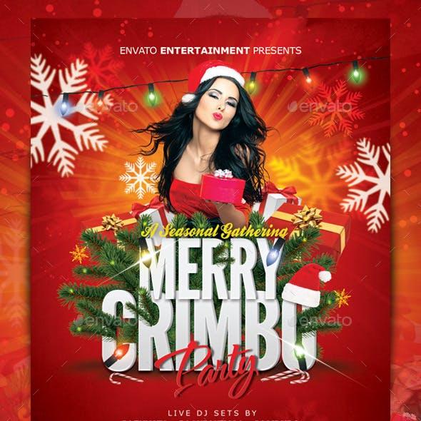 Merry Crimbo Christmas Flyer Template