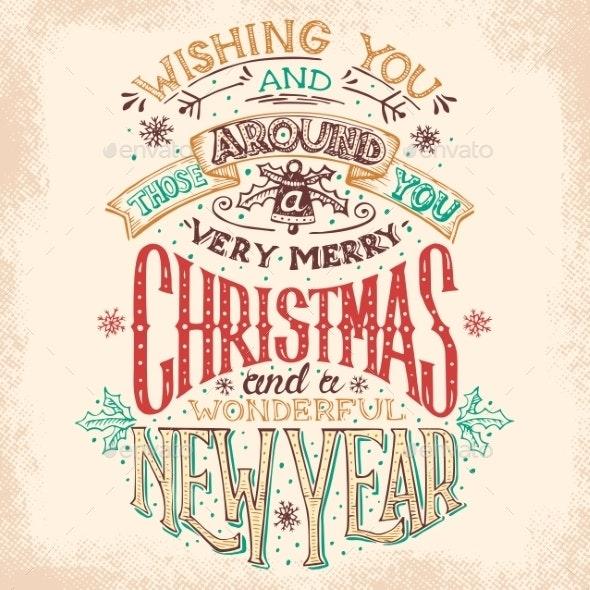 Christmas and New Year Hand-Lettering - Christmas Seasons/Holidays