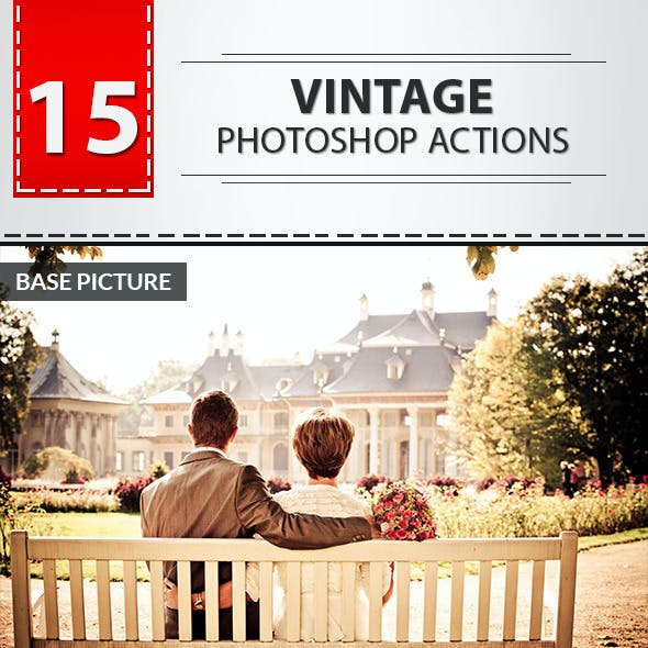 15 Vintage Photoshop Actions