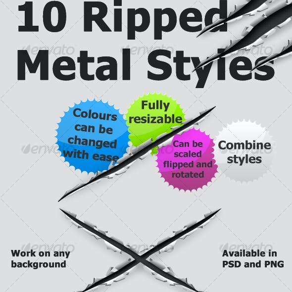 10 Ripped Metal Styles