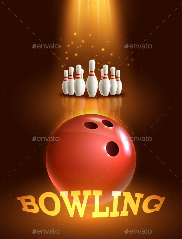 Bowling Game Poster - Backgrounds Decorative