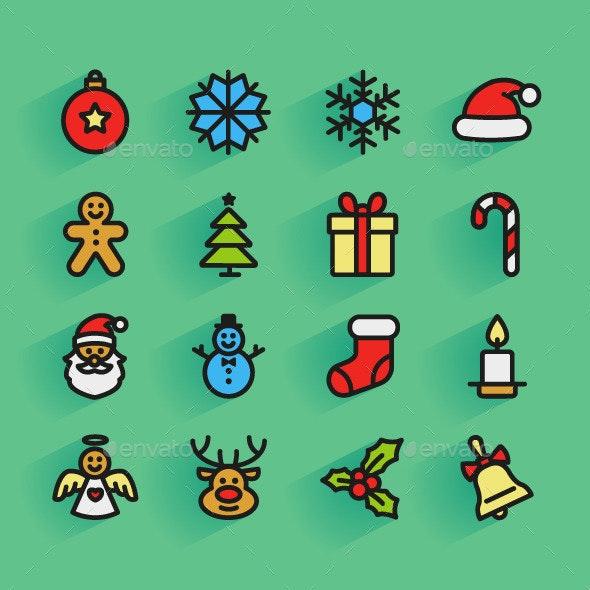 Set of Christmas Icons - Seasonal Icons