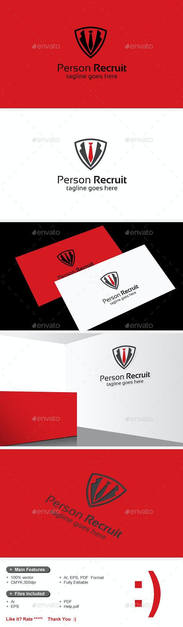Person Recruit & Recruiting Staff - Humans Logo Templates