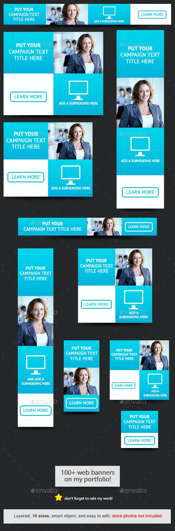 Corporate Web Banner Design Template 55 - Banners & Ads Web Elements