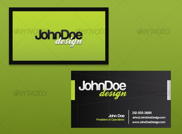 Clean Green Business Card - Creative Business Cards