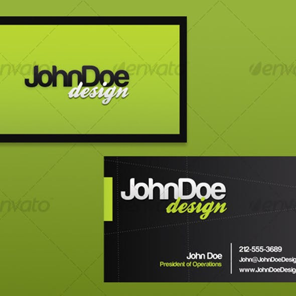 Clean Green Business Card