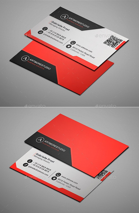 Simple Business Card Vol. XVII - Corporate Business Cards
