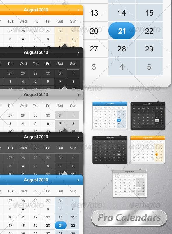 Pro Calendar Pack - Miscellaneous Web Elements