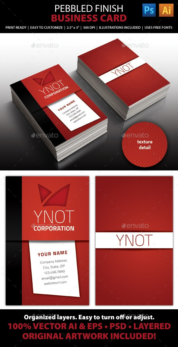 Textured Business Card  - Corporate Business Cards