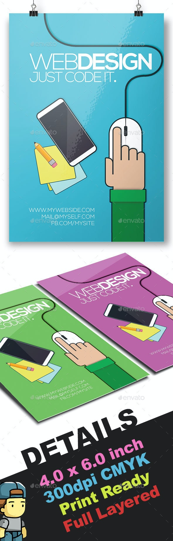 The Webdesign Business Flyer Template - Corporate Flyers