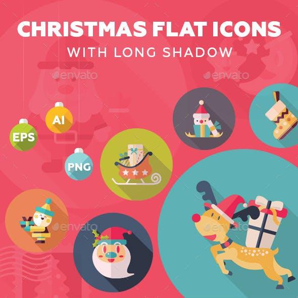 65 Christmas Flat Icons