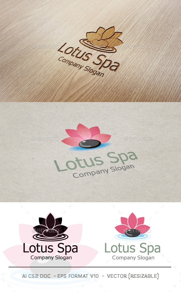 Lotus Spa Logo - Nature Logo Templates
