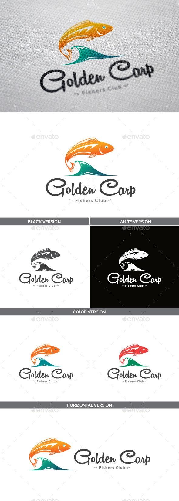 Golden Carp Logo - Animals Logo Templates