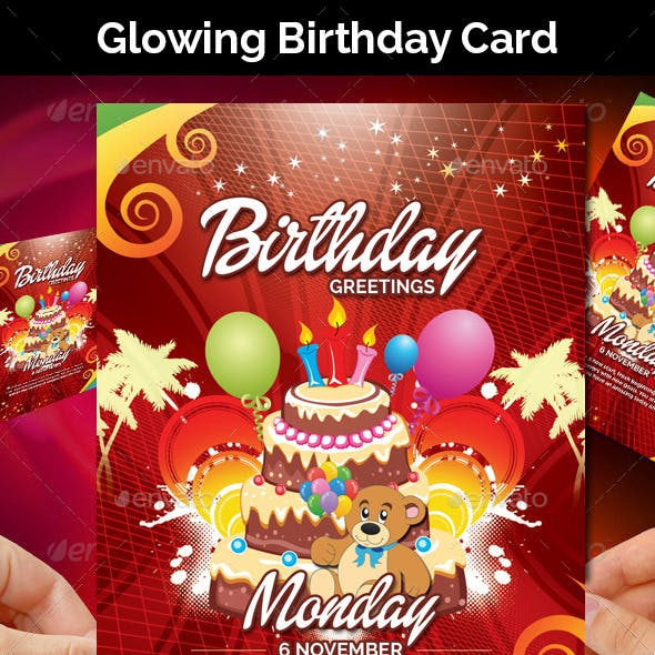 Glowing Birthday Card