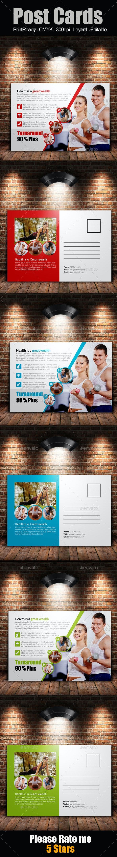 Fitness Postcards - Cards & Invites Print Templates