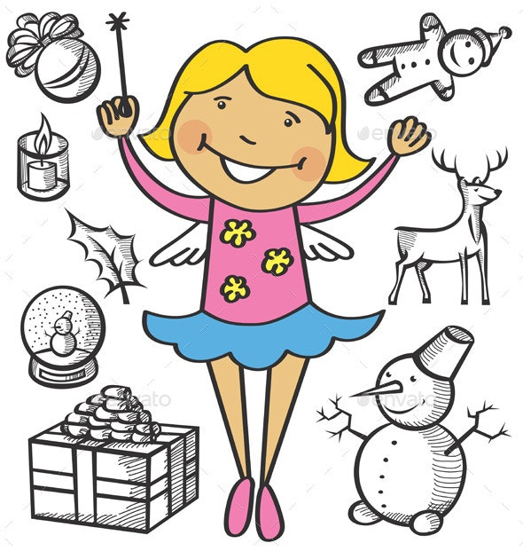 Girl Dressed as a Fairy - Christmas Seasons/Holidays