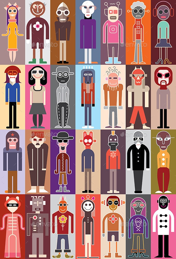 People Vector Illustration - Characters Vectors