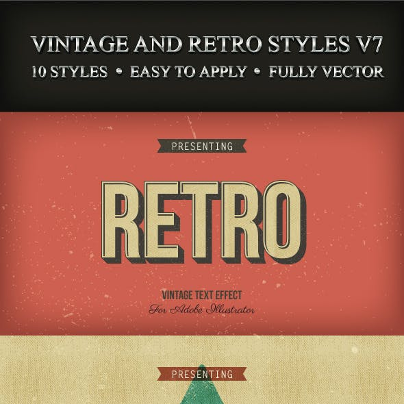 Vintage and Retro Styles V7