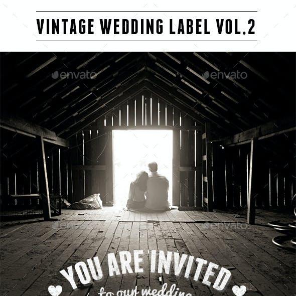 Vintage Wedding Label Vol2