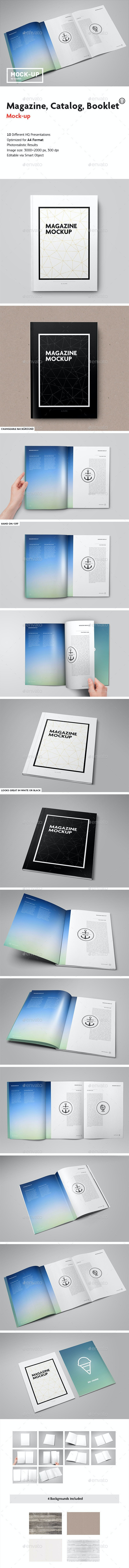 Magazine / Catalog / Booklet Mock-Up - Magazines Print