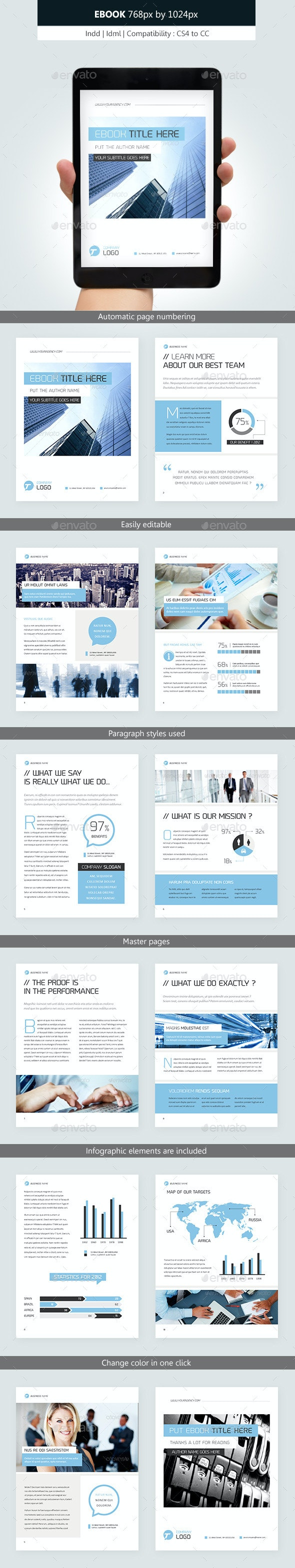 Corporate Ebook Template Design vol.2 - Digital Books ePublishing