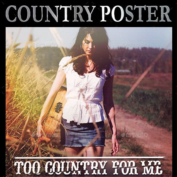 "8.5""x11"" Country Music Poster"