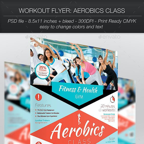 Workout Flyer: Aerobics Class