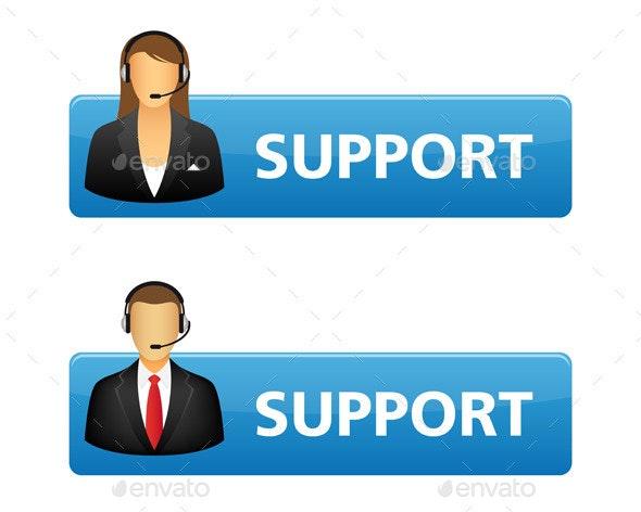 Support Buttons - Web Elements Vectors