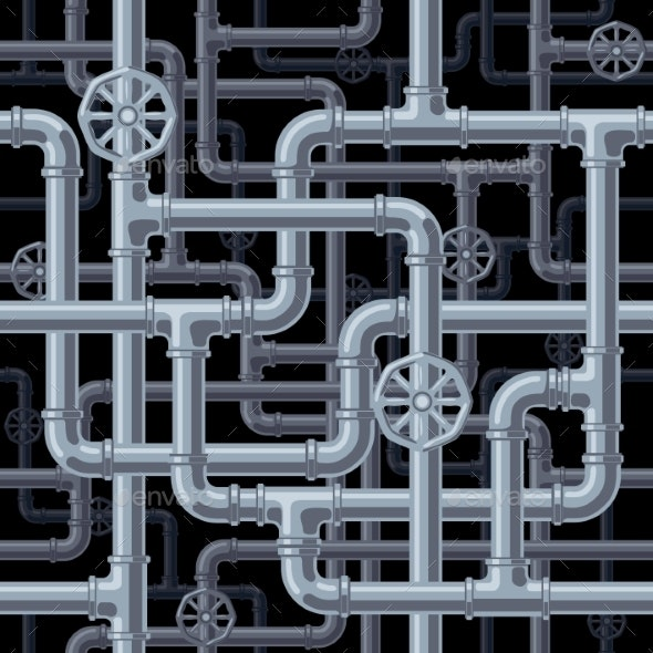 Seamless Pipes Background - Backgrounds Decorative
